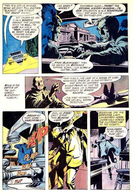 Detective Comics #400 dc Batman Man-bat comic book page art by Neal Adams