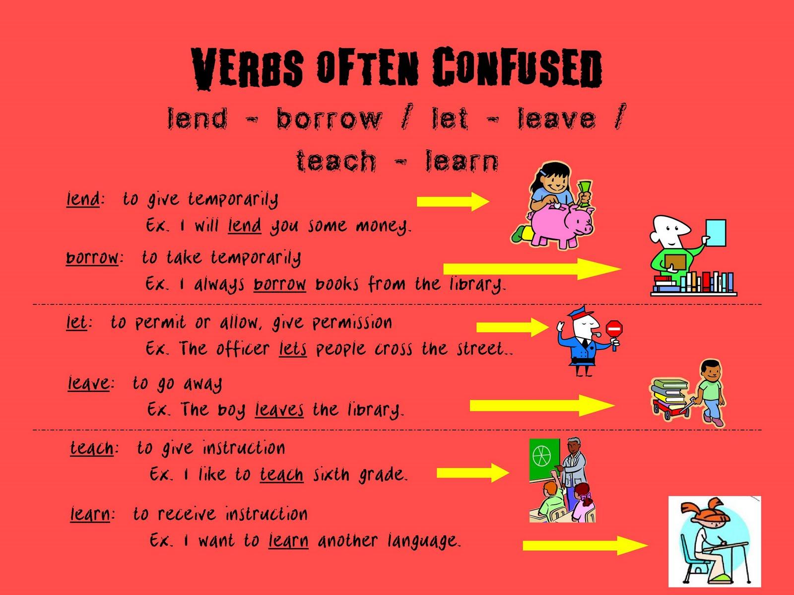 6th Grade Verbs Often Confused