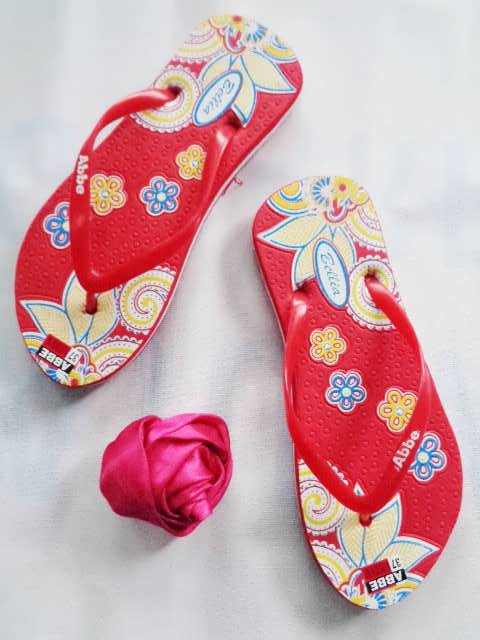 Sandal Sablon Bunga - Sandal Harga Langsung Dari Pabrik