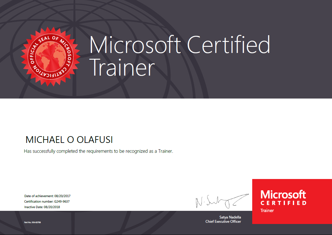 Finally I Am Now A Microsoft Certified Trainer Mct Productivity