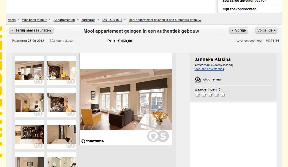 Mooi appartement gelegen in een authentiek gebouw amsterdam - Een appartement ontwikkelen ...