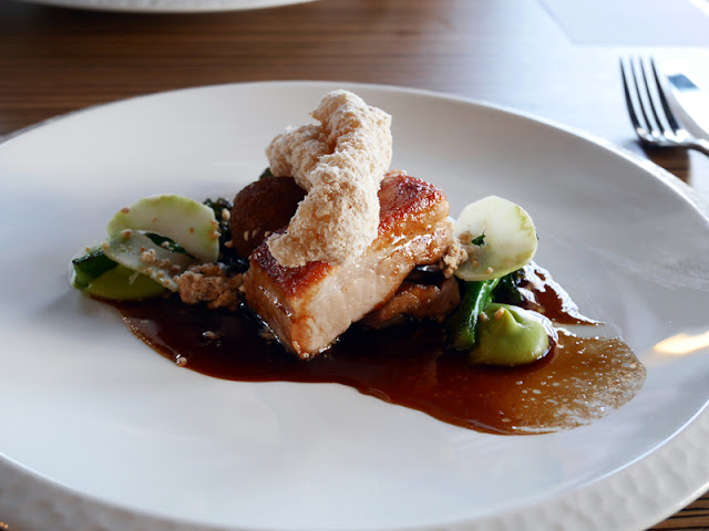 Pork belly and broccoli by Etch restaurant Brighton