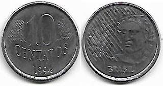 Moeda de 10 centavos, 1994