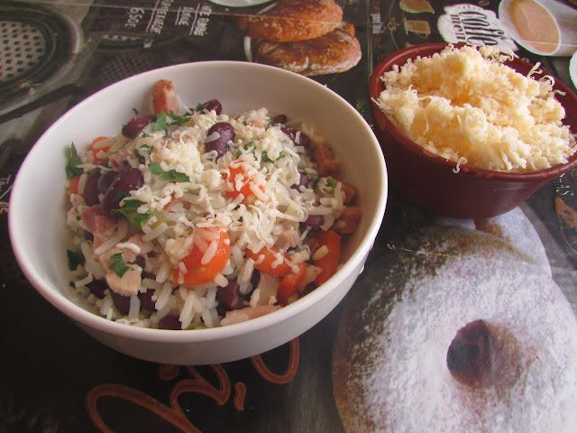 risotto z czerwona fasolą