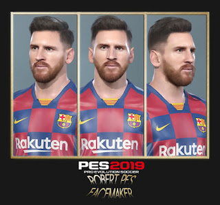 PES 2019 Faces Lionel Messi by RobertPes Facemaker