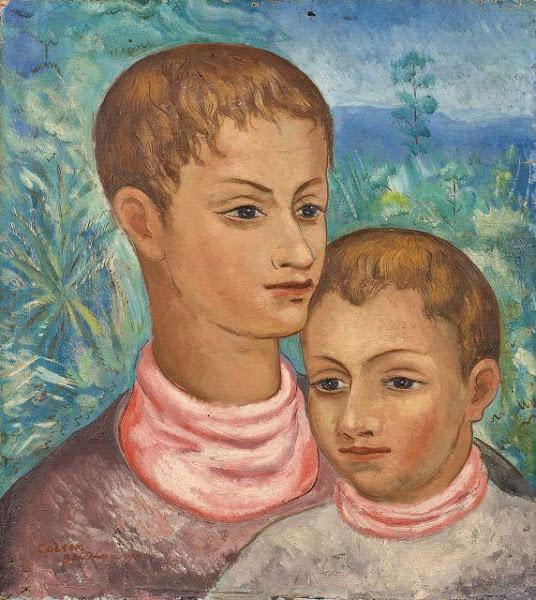 Retrato de dos niños, Jaime Colson, 1941