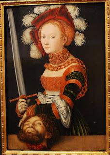 Cranach l'Ancien – Judith avec la tête d'Holopherne, prêt du Metropolitan of Art de New York