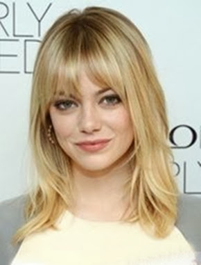 Emma Stone Medium Layered Hair with Bangs - Emma Stone Medium Layered Hair with Bangs Repinly Hair Beauty Popular Pins