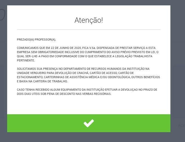 Alunos realizam manifestação on-line contra demissão em massa da UNINOVE   Manifesto será neste domingo (28) às 16 horas   Alunos da Universidade Nove de Julho (UNINOVE) marcaram uma manifestação on-line para este domingo (28), às  16h contra a demissão em massa de professores da universidade ocorrida nesta semana em São Paulo.