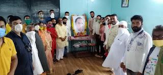 ब्लाक कांग्रेस कमेटी द्वारा भारत रत्न राजीवजी की 76वी जन्म जंयती मनाई