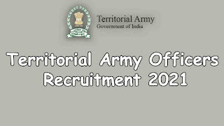 Territorial Army Officers Recruitment 2021