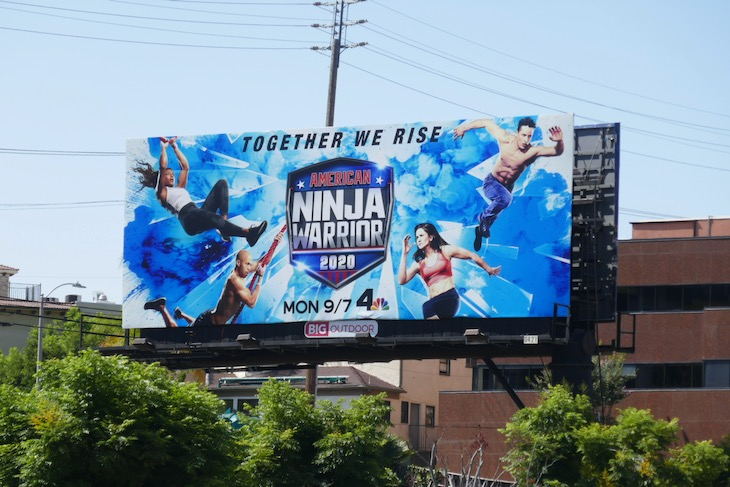 American Ninja Warrior 2020 billboard