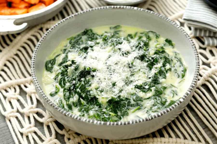 Cara Membuat Creamy Spinach