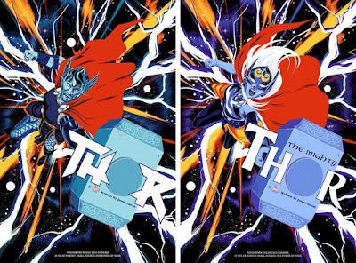 Thor & The Mighty Thor Screen Prints by Doaly x Grey Matter Art x Marvel Comics