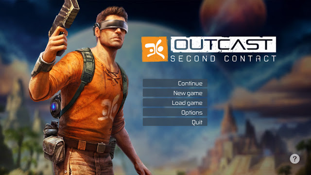 Outcast Second Contact title screen