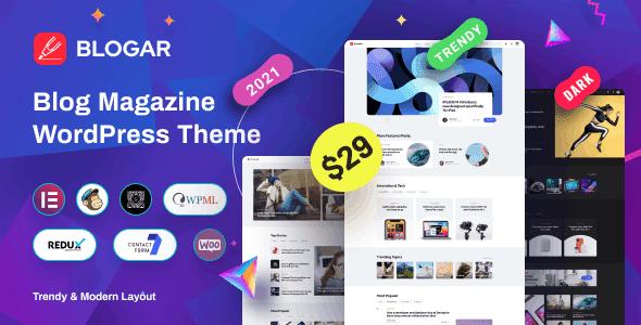 Blogar - Tema WordPress da Revista Blog
