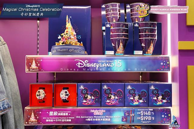 利園區香港迪士尼樂園15周年奇妙聖誕慶典 AT LEE GARDENS Magical Christmas 米奇及米妮腕錶