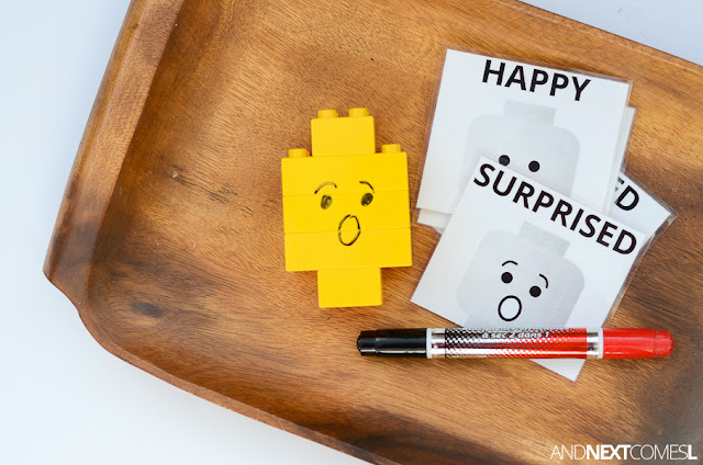 LEGO activity for kids to explore emotions from And Next Comes L