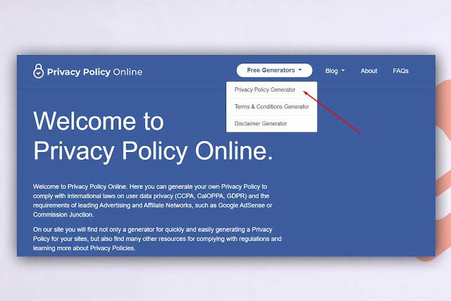 Halaman Privacy Policy di Blogger