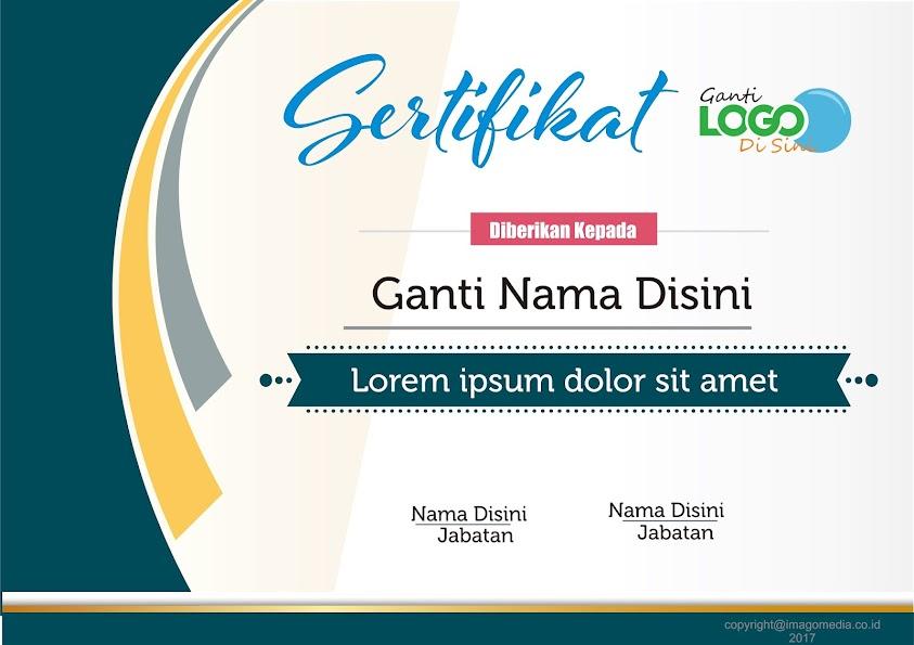 Download Sertifikat Piagam Template Desain Grafis Majalah Social