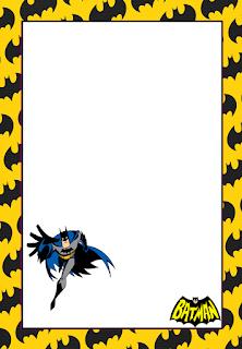 Marcos, Invitaciones, Tarjetas o Etiquetas de Batman para Imprimir Gratis.