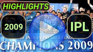 2009 IPL Matches Highlights Online