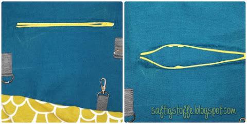 Taschendetails: eingenähte Reißverschlusstasche