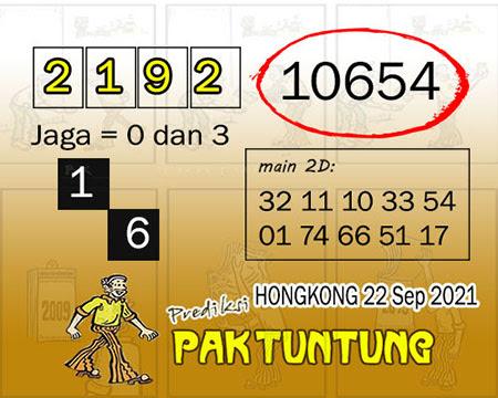Prediksi Pak Tuntung HK Rabu 22 September 2021
