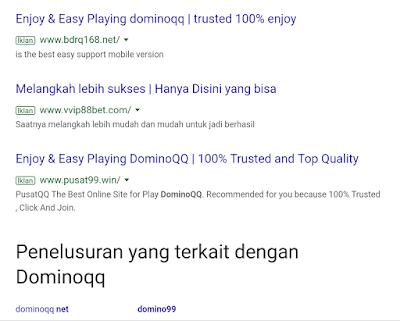 Jasa Iklan Adwords Situs Judi Dominoqq Online