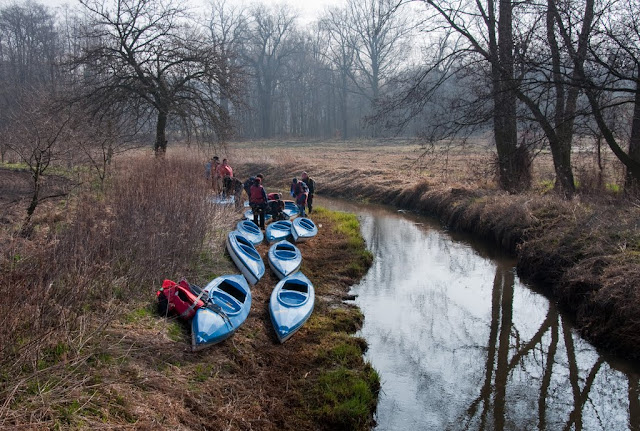 Kajaki na malowniczych kanałach. Nowe Domy - Wąsosz.