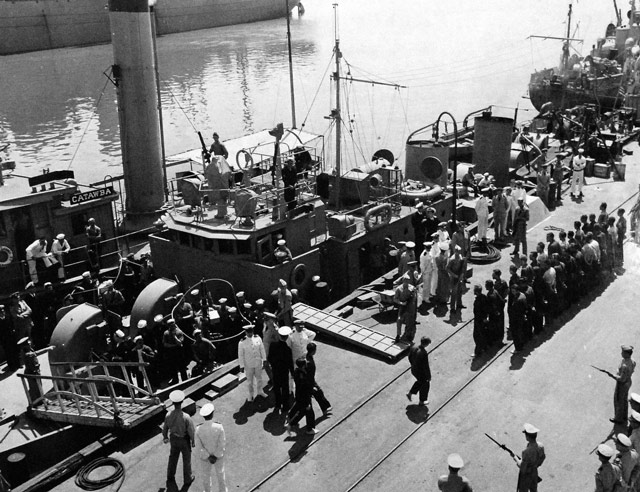 Captured crew of U-352, 9 May 1942 worldwartwo.filminspector.com