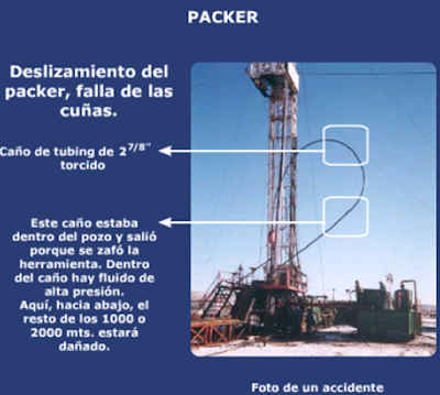 equipamiento de fractura hidraulica accidente packer