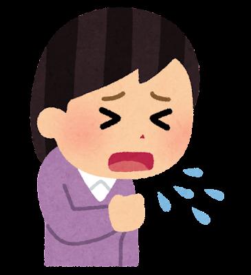 咳をする人のイラスト(女性)