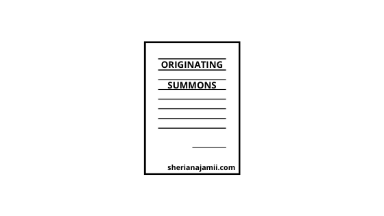 Sample of Originating Summons in Tanzania