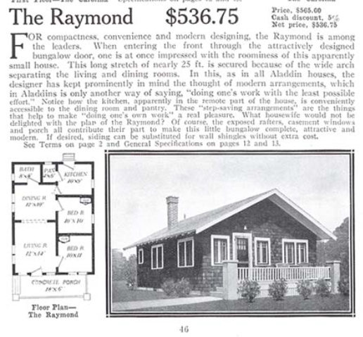aladdin raymond 1916 catalog
