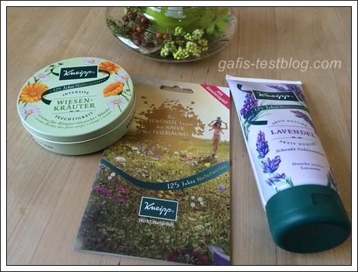 Die Wiesen Kräuter Creme und die Aktiv Dusche Lavendel