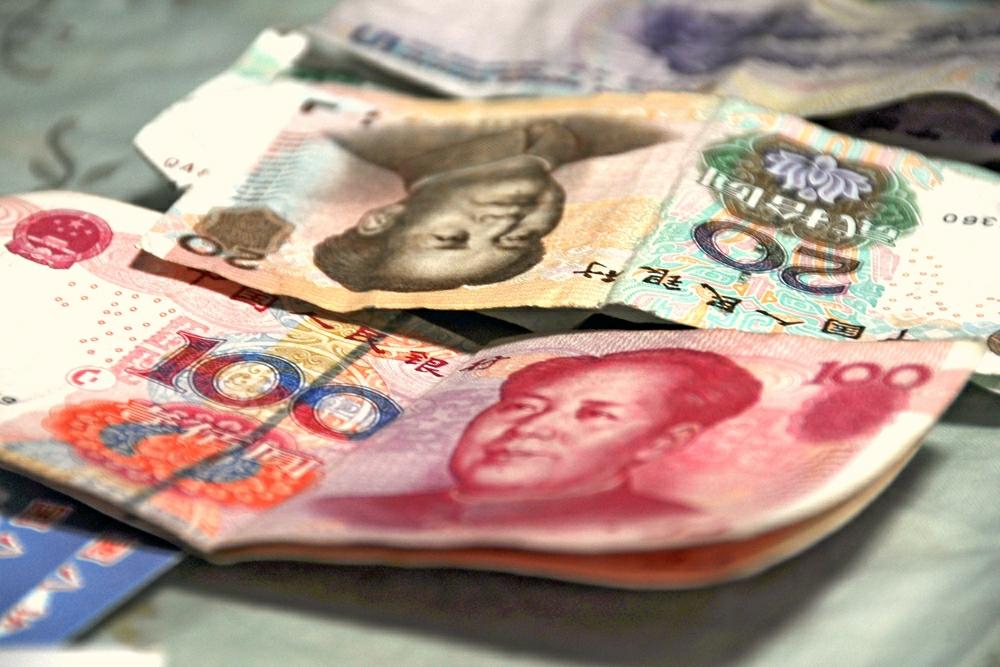Cédulas de renminbi, a moeda oficial chinesa
