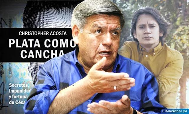 """César Acuña demandó al autor del libro """"Plata como cancha"""""""