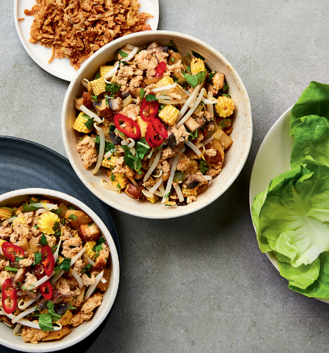 Spicy Smoked Tofu Lettuce Cups