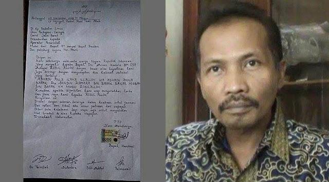 Polres Garut Tangkap Pembuat Surat 'Sensen Presiden Indonesia'
