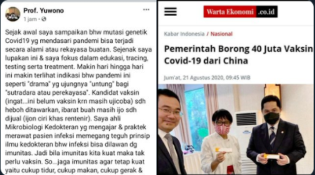 """Pemerintah Borong Vaksin Covid-19 dari China, Prof Yuwono: Ujungnya """"Untung"""" bagi Sutradara"""