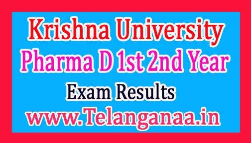 Krishna University Pharma D 1st year Exam Results 2017