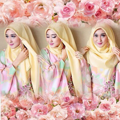 Tutorial Hijab Segitiga ala Dian Pelangi Gambar Step by Step