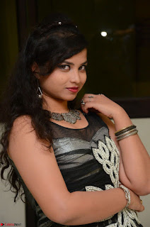 Shrisha Dasari in Sleeveless Short Black Dress At Follow Follow U Audio Launch 072.JPG
