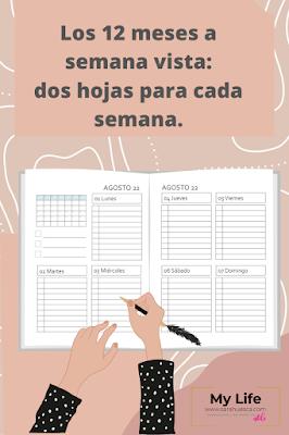 AGENDA, 2022, editar, imprimir, descargar, powerpoint, pdf, semanal, diaria, planificadores