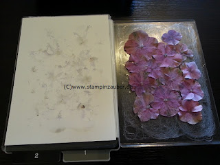 Hortensienblüten Anleitung mit Fotos von Silvi Provolija Unabh. Stampin' Up! Demonstratorin aus Jena Thüringen
