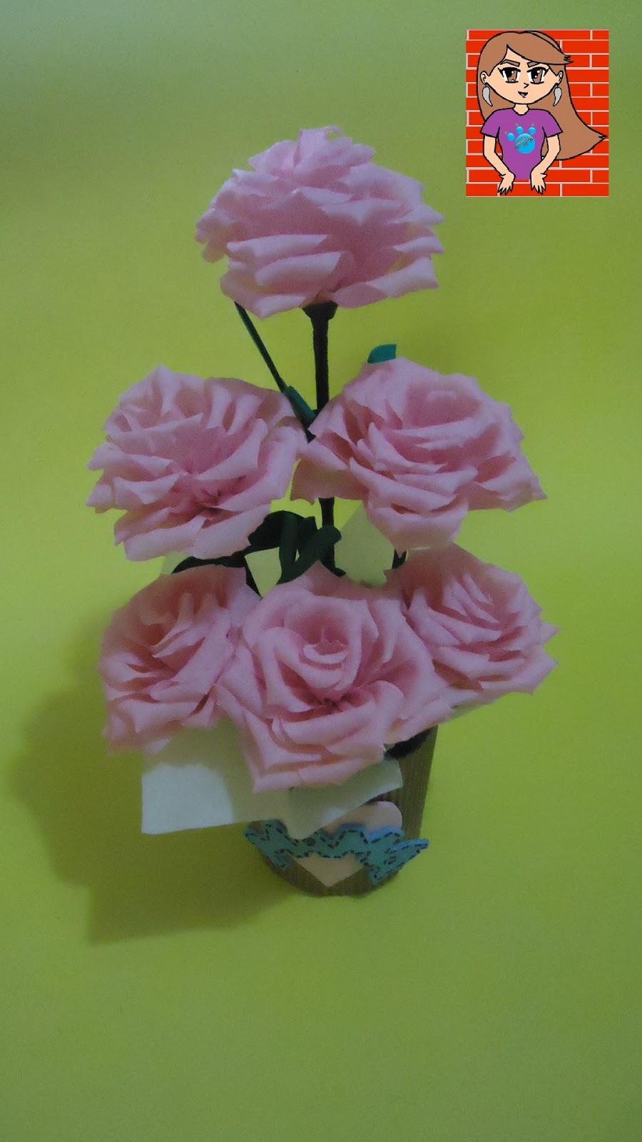 Pumitanegraart Arreglo Floral Con Flores De Papel Crepé