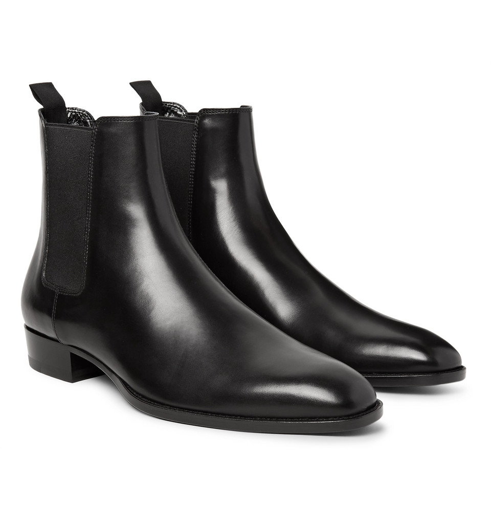 dd5dd218787 Stepping Highbrow: Saint Laurent Polished Leather Chelsea Boots ...