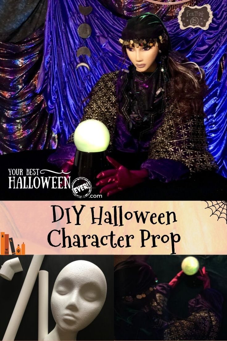 diy halloween character prop, mystical fortune teller halloween decoration