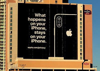 iphone's billboard in Las Vegas
